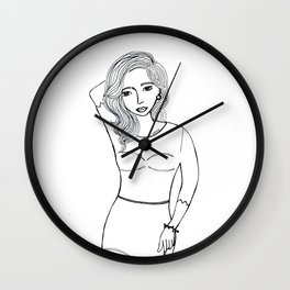 Pin Up Girl Wall Clock