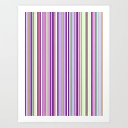 Pink Summer Stripes Art Print
