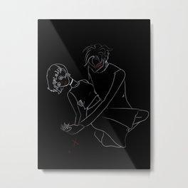 Damsel in Distress Metal Print