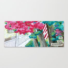In The Summer Canvas Print