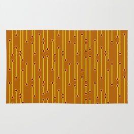 Dotted Lines in Mustard, Burgundy and Spicy Orange Rug