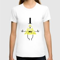 bill cipher T-shirts featuring Bill Cipher by Rebecca McGoran