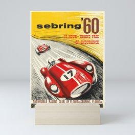 sebring 60   12 hour - grand prix of endurance. 1960  oude poster Mini Art Print