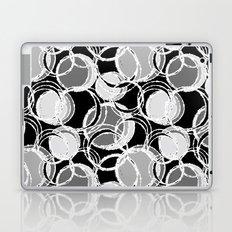 Simple circles on black Laptop & iPad Skin