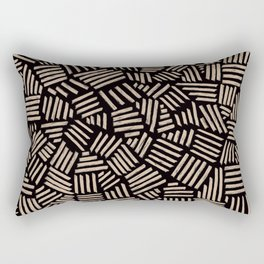 Hatch Black  Rectangular Pillow