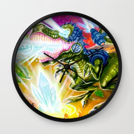 """""""WOMP Womp Chomp"""" by Adam France Wall Clock"""