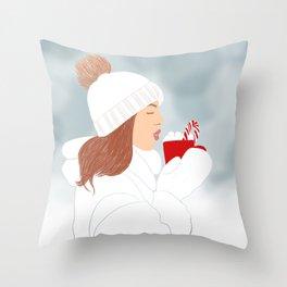 Christmas vibes Throw Pillow