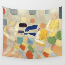 """Robert Delaunay """"Les coureurs (The runners)"""" Wall Tapestry"""