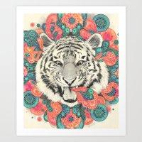 Art Prints featuring bengal mandala by Laura Graves