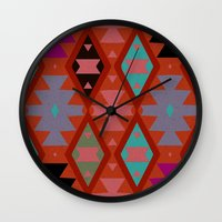 bohemian Wall Clocks featuring bohemian by spinL