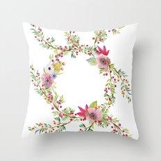 Natural Circle Throw Pillow