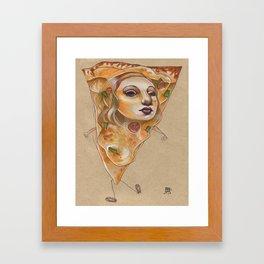 PIZZA LADY Framed Art Print