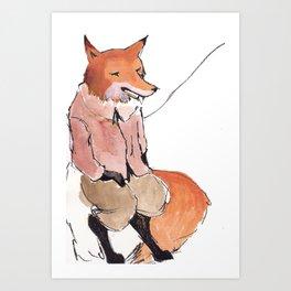 Foxy Art Print