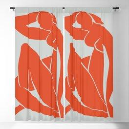 Blue Nude in Orange - Henri Matisse Blackout Curtain