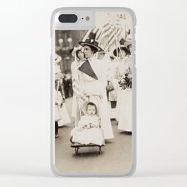 Suffragist Parade, 1912 Clear iPhone Case