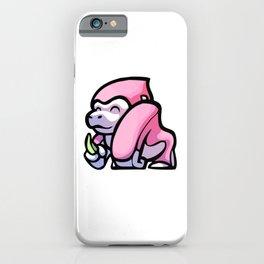 Pink Gorilla X Enfu Gorilla iPhone Case
