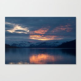 lights on the fjord Canvas Print