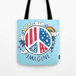 Imagine Love Imagine Peace Tote Bag