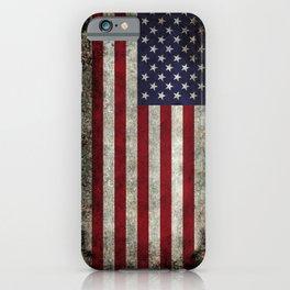 USA flag - in Super Grunge iPhone Case