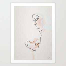 One line éternelle idole 3 Art Print