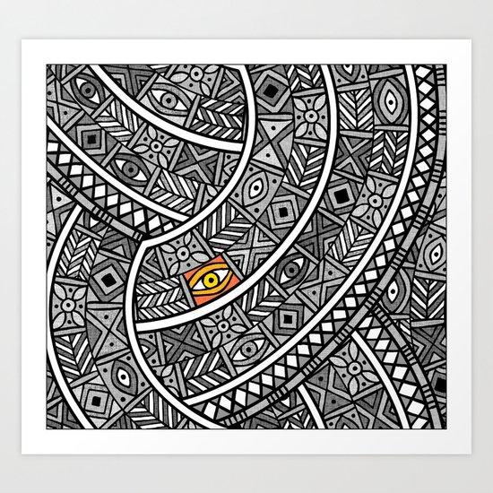 Oba Goldeneye Art Print