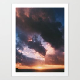 SF Sunset Art Print