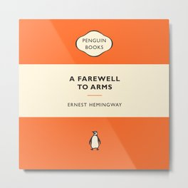 Ernest Hemmingway - A Farewell To Arms Metal Print