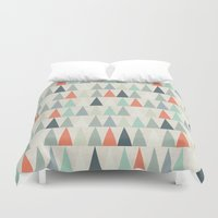 triangles Duvet Covers featuring Triangles by Dizzy Moments