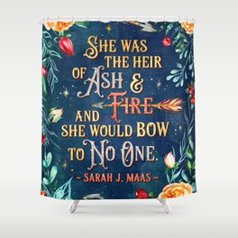 Ash & Fire Shower Curtain