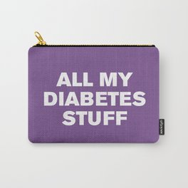 All My Diabetes Stuff (Royal Lilac) Carry-All Pouch