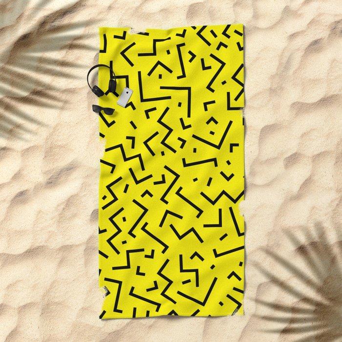 Memphis pattern 35 Beach Towel