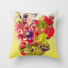 When the Petals Start Pouring Throw Pillow