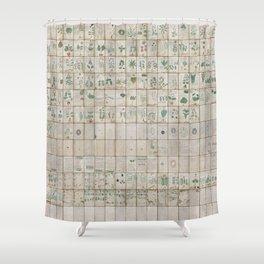 The Complete Voynich Manuscript - Natural Shower Curtain