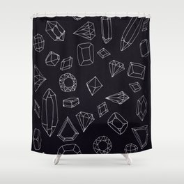 doodle crystals Shower Curtain