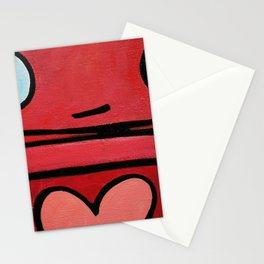 Robot - My Heart Says Yes Stationery Cards