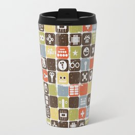 Robot face. Travel Mug