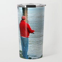 Fishing By The River Travel Mug