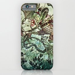 """Jabberwocky"" by Charles Folkard iPhone Case"