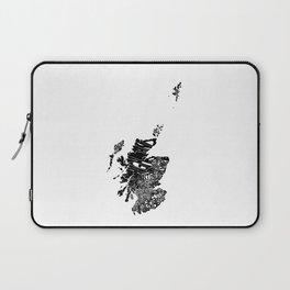 Typographic Scotland European map art Laptop Sleeve