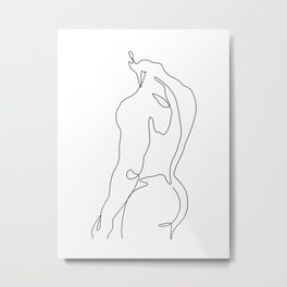 Naked male-a Metal Print