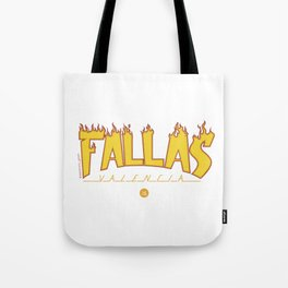 Fallas on fire Tote Bag