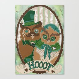 Mr. and Mrs. Owl Canvas Print