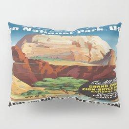 Vintage poster - Zion National Park Pillow Sham