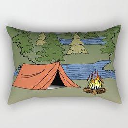 Camp Illustration Rectangular Pillow