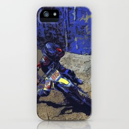 Leaning In - Motocross Racer iPhone Case