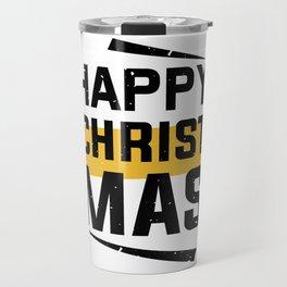 Happy Christmas T-Shirt - Chirstmas Family Gift Shirt - Christmas Gift Shirt - Happy Family Shirt Travel Mug