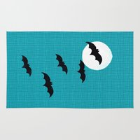 bats Area & Throw Rugs featuring Bats by Jude's