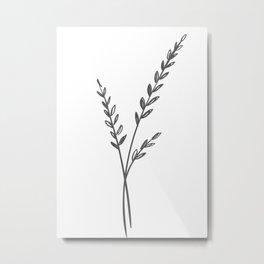 Line Art of Flowers 3 Metal Print