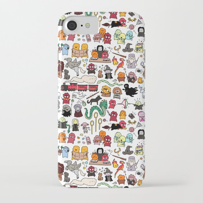 kawaii harry potter doodle iphone case