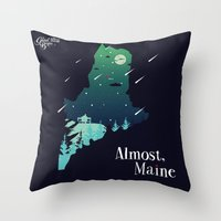 maine Throw Pillows featuring Almost, Maine by Typo Negative